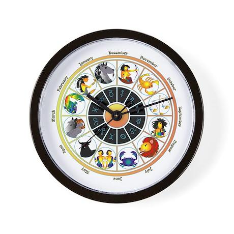 Whimsical Zodiac Wheel Wall Clock by azodnem