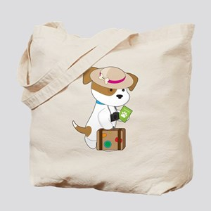 Puppy Travel Tote Bag