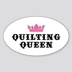 Quilting Queen Oval Sticker