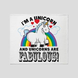 Unicorns Are Fabulous Throw Blanket