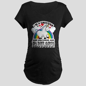 Unicorns Are Fabulous Maternity T-Shirt