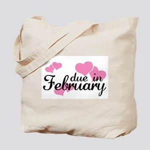 Due In February Hearts Tote Bag