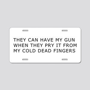 Cold Dead Fingers Aluminum License Plate
