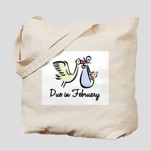 Due In February Stork Tote Bag
