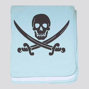 Calico Jack Pirate baby blanket