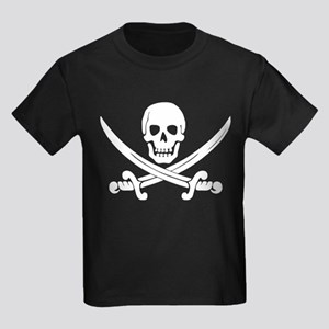 Calico Jack Pirate Kids Dark T-Shirt