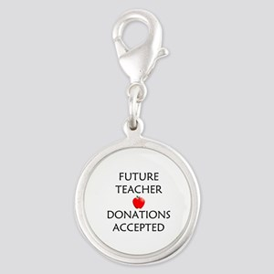 Future Teacher - Donations Accepted Silver Round C