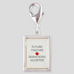 Future Teacher - Donations Accepted Silver Portrai