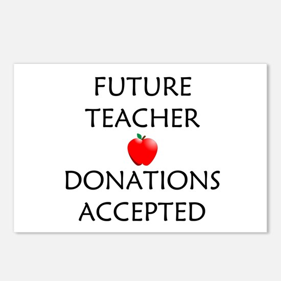 Future Teacher - Donations Accepted Postcards (Pac