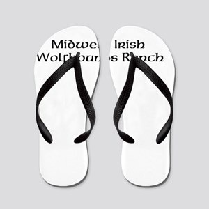 Midwest Irish Wolfhounds Ranch Flip Flops