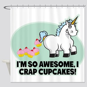 Crapping Cupcakes Shower Curtain