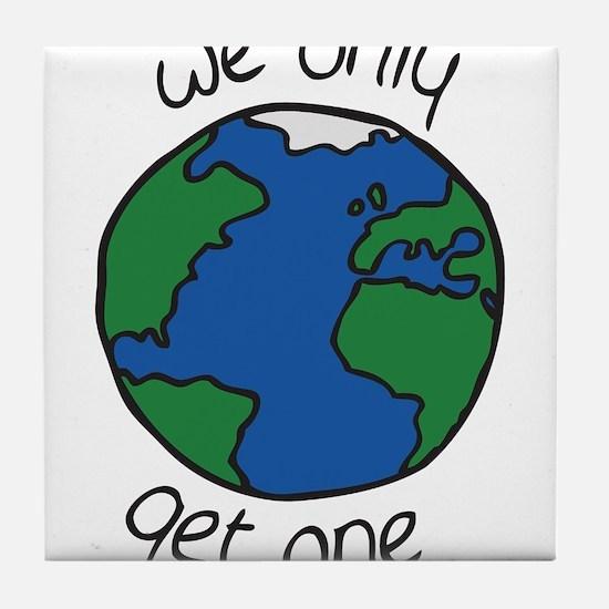 one earth Tile Coaster
