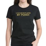 Playing Piano Women's Dark Tee