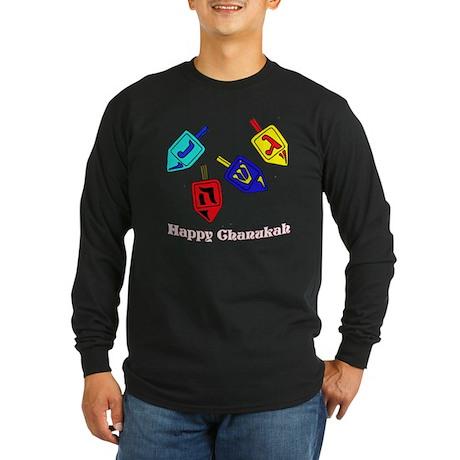 Dreidel Time Long Sleeve Dark T-Shirt