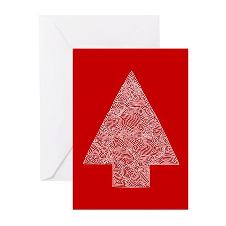 Arrow Tree Red Greeting Cards (Pk of 10)