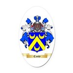 Canty Oval Car Magnet