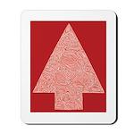 Arrow Tree Red Mousepad