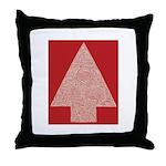 Arrow Tree Red Throw Pillow