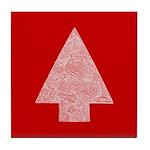 Arrow Tree Red Tile Coaster