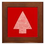 Arrow Tree Red Framed Tile