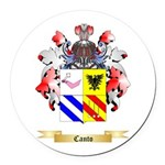 Canto Round Car Magnet