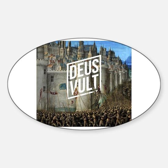 Cool Deus Sticker (Oval)