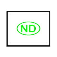 ND Oval - North Dakota Framed Panel Print