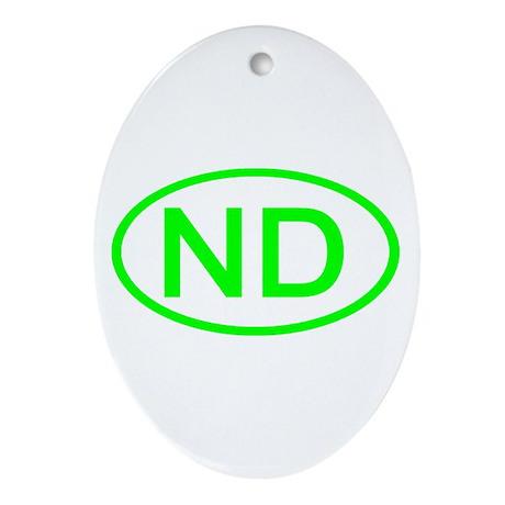ND Oval - North Dakota Oval Ornament
