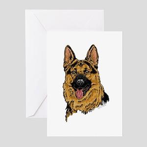 Black & Tan German Shepherd face cards(Pkg. of 6)