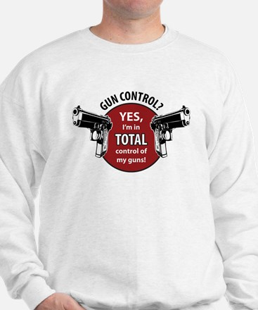I'm in total control of my guns! Sweater