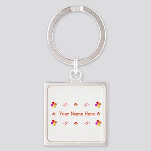 Generic Girl 1 Square Keychain