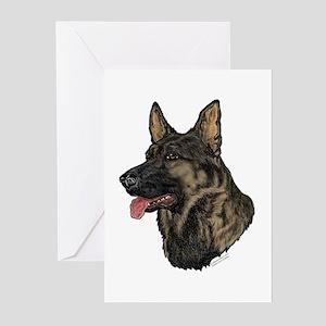Sable German Shepherd face cards(Pkg. of 6)