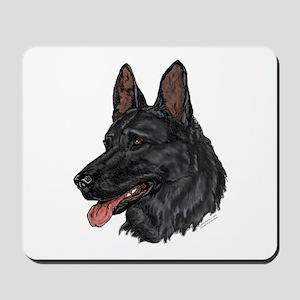 Black German Shepherd Mousepad