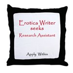 Seeks Research Assistant Throw Pillow