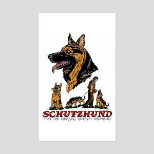 Schutzhund Rectangle Sticker #1
