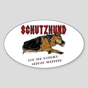 Schutzhund Oval Sticker #2