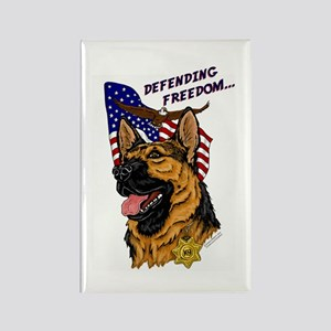 German Shepherd K-9 Rectangle Magnet #1