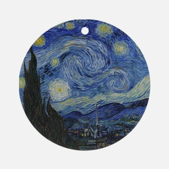 Vincent Van Gogh Starry Night Ornament (Round)