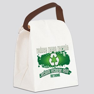 Reclaim, Recharge and Recycle Canvas Lunch Bag