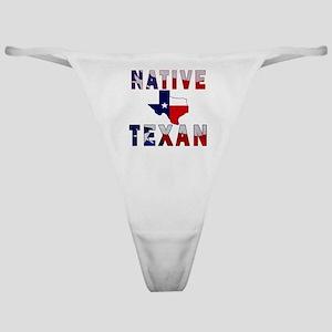 Native Texan Flag Map Classic Thong