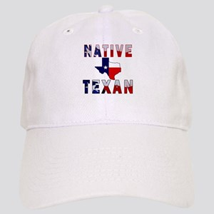 Native Texan Flag Map Baseball Cap