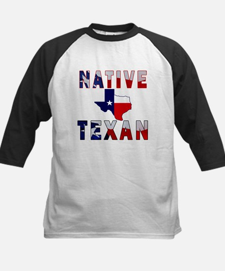 Native Texan Flag Map Baseball Jersey