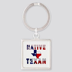 Native Texan Flag Map Keychains