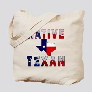 Native Texan Flag Map Tote Bag
