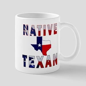 Native Texan Flag Map Mug