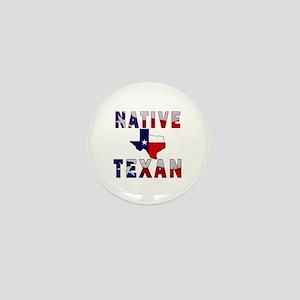 Native Texan Flag Map Mini Button