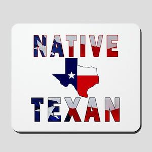 Native Texan Flag Map Mousepad