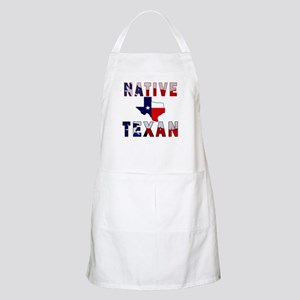 Native Texan Flag Map Apron