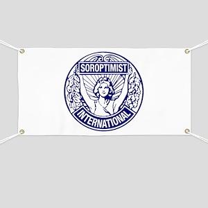 Soroptimist International BlueWhite Banner