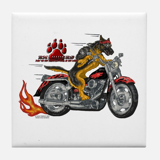 RH Riders Tile Coaster #1